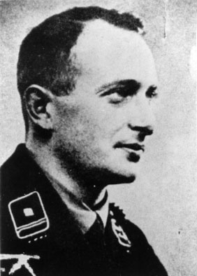 Photo Adolf Eichmann during training in Austrian Legion.