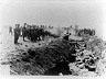 Photo of Einsatzgruppen; mass shooting.