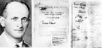 Photo Eichmann's false identification papers.