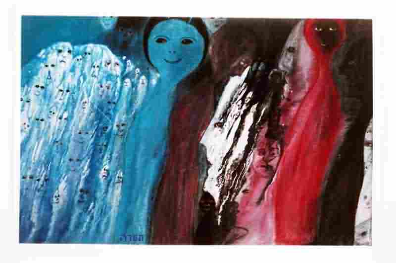 Holocaust Child Survivor Paintings and Sculpture In Remembrance 6646-002-587772A026